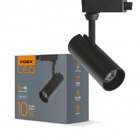 LED світильник трековий VIDEX 10W 4100K чорний