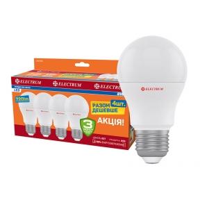 Комплект ламп світлодіодних стандартних LS-8 8W E27 4000K алюмопл. корп. 4шт. A-LS-1852