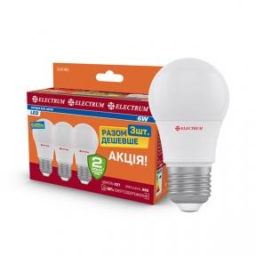 Комплект ламп світлодіодних стандартних LD-7 7W E27 4000K алюмопл. корп. 4шт. A-LD-1851