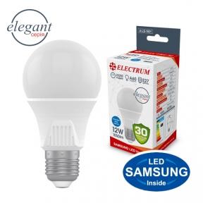 Лампа світлодіодна стандартна A60 LS-33 Elegant 12W E27 4000K алюмопл. корп. A-LS-1921