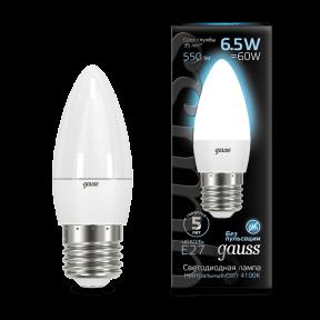 Лампа Gauss LED Candle E27 6.5W 4100К 550Лм