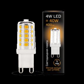 Лампа Gauss LED G9 AC185-265V 4W 2700K кераміка 400Лм