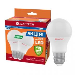 Комплект ламп світлодіодних стандартних LS-11 10W E27 4000K алюмопл. корп.3шт. A-LS-1452