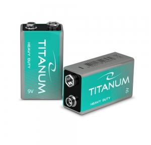 Батарейка сольова Titanum 6F22 SHRINK
